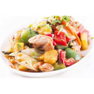 Chicken Wok with Sweet & Sour Sauce high-protein dish