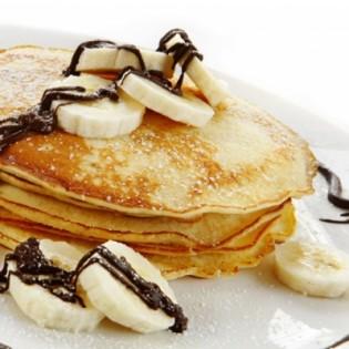 Banana and chocolate pancake