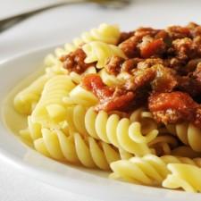 Bolognese and basil fusilli